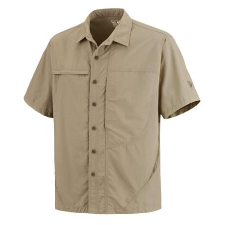 Mountain Hardwear Canyon Shirt - UPF 30, Short Sleeve (For Men) in Khaki