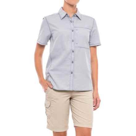Mountain Hardwear Canyon Shirt - UPF 50, Short Sleeve (For Women) in Indigo Blue - Closeouts