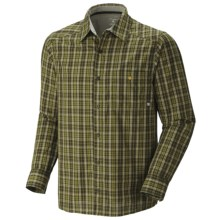 Mountain Hardwear Cardwell Plaid Shirt - Long Sleeve (For Men) in Elm - Closeouts