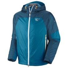 Mountain Hardwear Carillion Dry.Q Elite Jacket - Waterproof, Insulated (For Men) in Capris/Lagoon - Closeouts