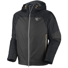 Mountain Hardwear Carillion Dry.Q Elite Jacket - Waterproof, Insulated (For Men) in Shark/Black - Closeouts