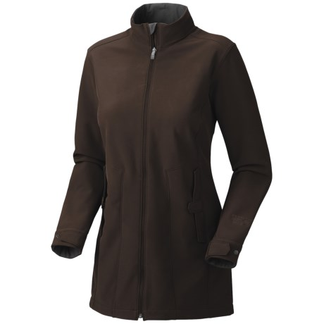 Mountain Hardwear Celerina Soft Shell Coat (For Women) in Bark
