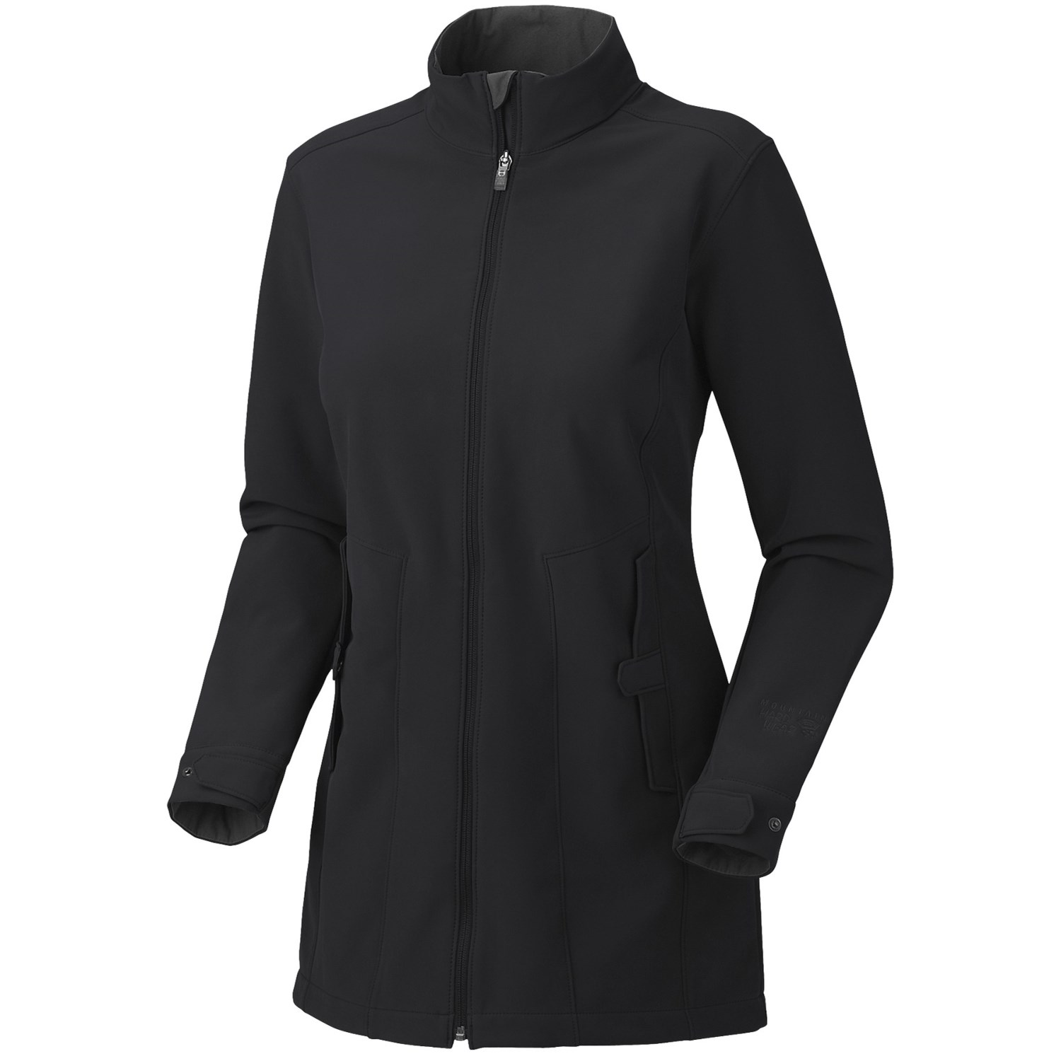 Mountain hardwear celerina soft shell coat for women in black