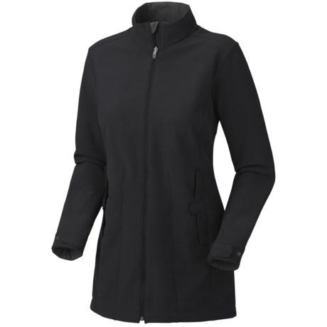 Mountain Hardwear Celerina Soft Shell Coat (For Women) in Black