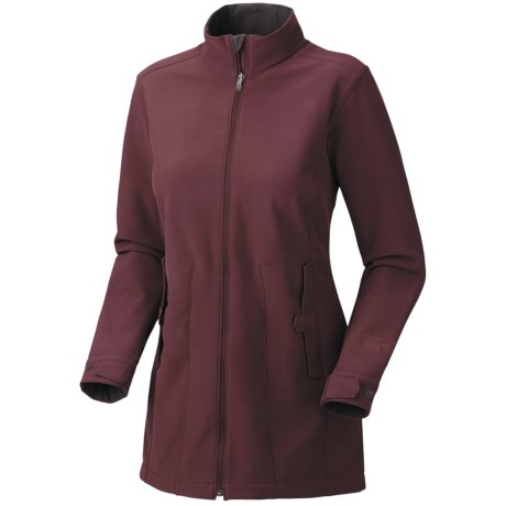 Mountain Hardwear Celerina Soft Shell Coat (For Women) in Black