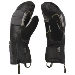 Mountain Hardwear Chawa Mittens - Waterproof (For Men) in Black