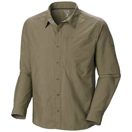 Mountain Hardwear Chiller Cool.Q Zero Shirt - UPF 30+, Long Sleeve (For Men) in Stone Green - Closeouts