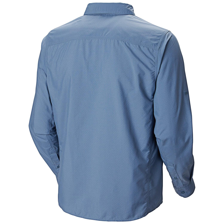 Mountain hardwear chiller cool q zero shirt for men 7795a for Men s upf long sleeve shirt