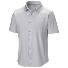 Mountain Hardwear Chiller Shirt - UPF 30, Short Sleeve (For Men) in Grey Ice - Closeouts