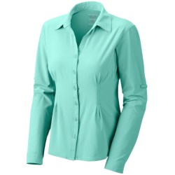 Mountain Hardwear Chiller Shirt - UPF 40, Long Roll Sleeve (For Women) in Aquarium