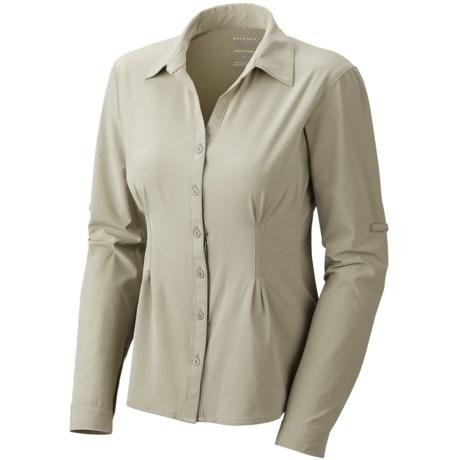 Mountain Hardwear Chiller Shirt - UPF 40, Long Roll Sleeve (For Women) in Grey Green