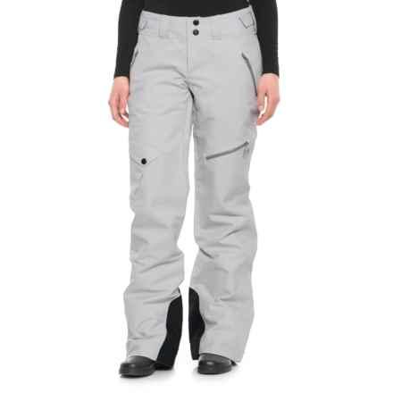 Mountain Hardwear Chute Ski Pants - Waterproof, Insulated (For Women) in White Twill - Closeouts