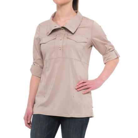 Mountain Hardwear Citypass Popover Shirt - UPF 30, Long Sleeve in Deep Lichen - Closeouts