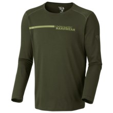 Mountain Hardwear Cliffer Color-Block T-Shirt - Long Sleeve (For Men) in Duffel - Closeouts
