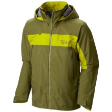Mountain Hardwear Compulsion 3L Dry.Q® Elite Jacket - Waterproof (For Men) in Utility Green/Python Green - Closeouts