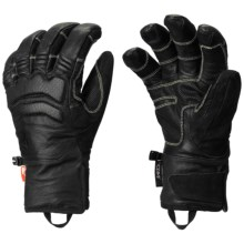 Mountain Hardwear Compulsion Leather Gloves - Waterproof (For Men) in Black - Closeouts