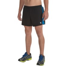 Mountain Hardwear CoolRunner Shorts - UPF 25, Built-In Brief (For Men) in Black/Hyper Blue - Closeouts