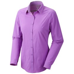 Mountain Hardwear Coralake Supreme Shirt - UPF 25, Long Sleeve (For Women) in Cool Wave