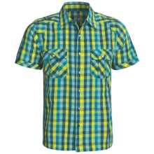 Mountain Hardwear Cortwright Shirt -Short Sleeve (For Men) in Deep Turqouise - Closeouts