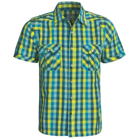 Mountain Hardwear Cortwright Shirt -Short Sleeve (For Men) in Deep Turqouise