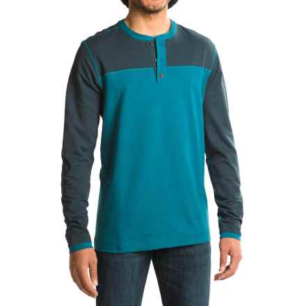 Mountain Hardwear Cragger Henley Shirt - Long Sleeve (For Men) in Phoenix Blue - Closeouts