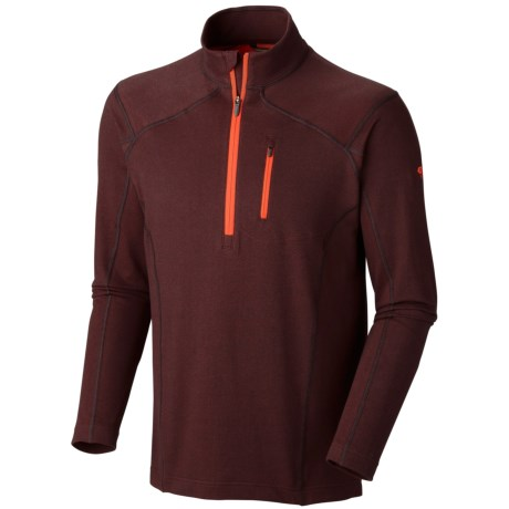 Mountain Hardwear Cragger Shirt - UPF 30, Zip Neck, Long Sleeve (For Men) in Cinder