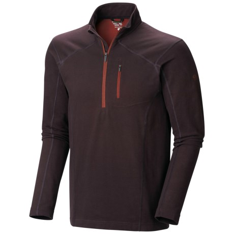 Mountain Hardwear Cragger Shirt - UPF 30, Zip Neck, Long Sleeve (For Men) in New Cinder
