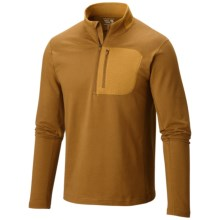 Mountain Hardwear Cragger Shirt - Zip Neck, Long Sleeve (For Men) in Golden Brown - Closeouts