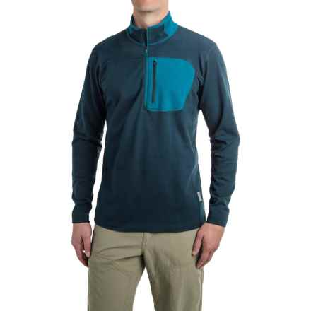 Mountain Hardwear Cragger Shirt - Zip Neck, Long Sleeve (For Men) in Hardwear Navy - Closeouts