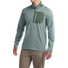 Mountain Hardwear Cragger Shirt - Zip Neck, Long Sleeve (For Men) in Ice Shadow - Closeouts