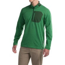 Mountain Hardwear Cragger Shirt - Zip Neck, Long Sleeve (For Men) in Serpent Green - Closeouts