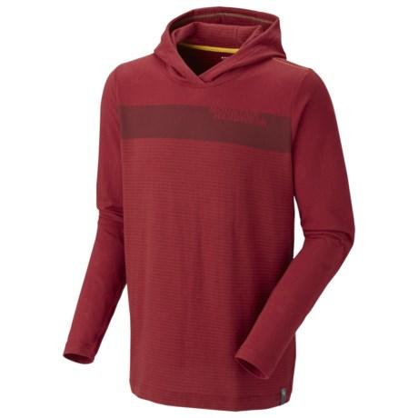 Mountain Hardwear Cragger Stripe Hoodie - UPF 30 (For Men) in Jester Red