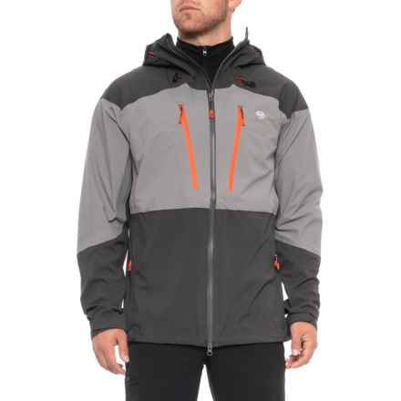 Mountain Hardwear Cyclone Polartec® Jacket - Waterproof, RECCO® (For Men) in Manta Grey/Shark - Closeouts