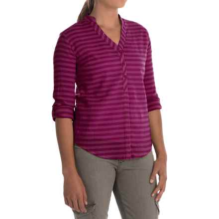Mountain Hardwear DaraLake Shirt - Roll-Up Long Sleeve (For Women) in Red Plum - Closeouts