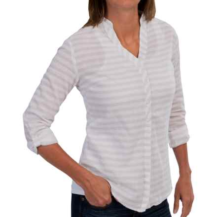 Mountain Hardwear DaraLake Shirt - Roll-Up Long Sleeve (For Women) in White - Closeouts