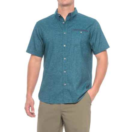 Mountain Hardwear Denton Shirt - UPF 30, Short Sleeve (For Men) in Phoenix Blue - Closeouts