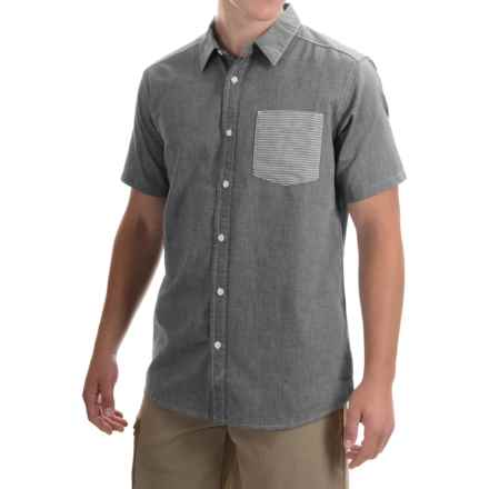 Mountain Hardwear Dervin Shirt - Button Front, Short Sleeve (For Men) in Black - Closeouts