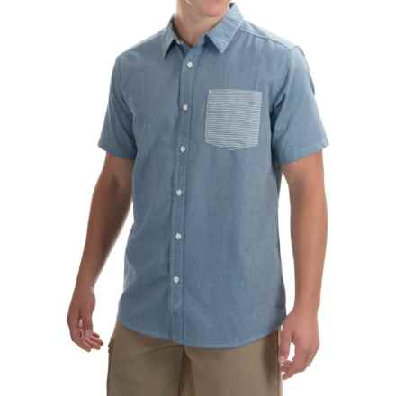 Mountain Hardwear Dervin Shirt - Button Front, Short Sleeve (For Men) in Phoenix Blue - Closeouts