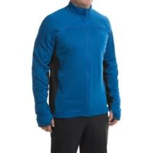 Mountain Hardwear Desna Grid Fleece Jacket - Polartec® Power Dry® (For Men) in Azul/Shark - Closeouts