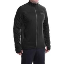 Mountain Hardwear Desna Grid Fleece Jacket - Polartec® Power Dry® (For Men) in Black/Shark - Closeouts