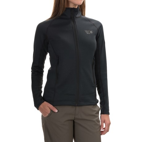 Mountain Hardwear Desna Grid Fleece Jacket - Polartec® Power Dry® (For Women) in Black