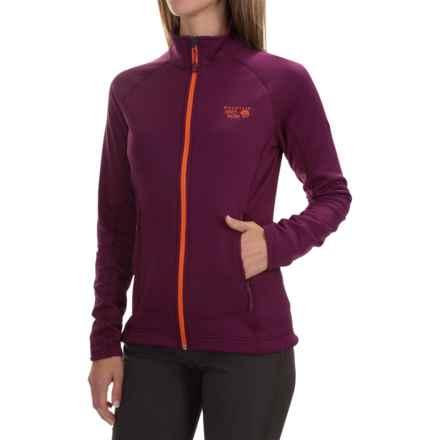 Mountain Hardwear Desna Grid Fleece Jacket - Polartec® Power Dry® (For Women) in Dark Raspberry - Closeouts