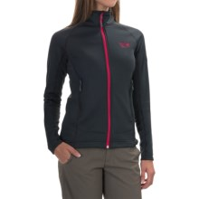Mountain Hardwear Desna Grid Fleece Jacket - Polartec® Power Dry® (For Women) in Shark - Closeouts