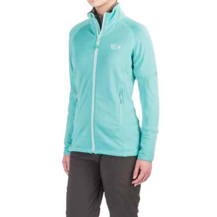 Mountain Hardwear Desna Grid Fleece Jacket - Polartec® Power Dry® (For Women) in Spruce Blue - Closeouts