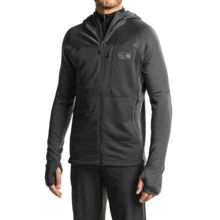 Mountain Hardwear Desna Grid Hooded Jacket - Polartec® Power Dry® (For Men) in Black - Closeouts
