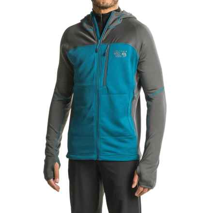 Mountain Hardwear Desna Grid Hooded Jacket - Polartec® Power Dry® (For Men) in Phoenix Blue - Closeouts