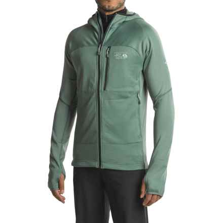 Mountain Hardwear Desna Grid Hooded Jacket - Polartec® Power Dry® (For Men) in Thunderhead Grey - Closeouts