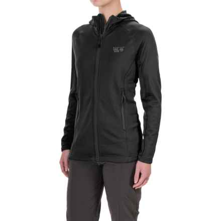 Mountain Hardwear Desna Grid Polartec® Power Dry® Fleece Jacket (For Women) in Black - Closeouts