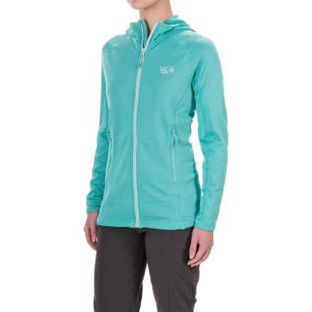 Mountain Hardwear Desna Grid Polartec® Power Dry® Fleece Jacket (For Women) in Spruce Blue - Closeouts