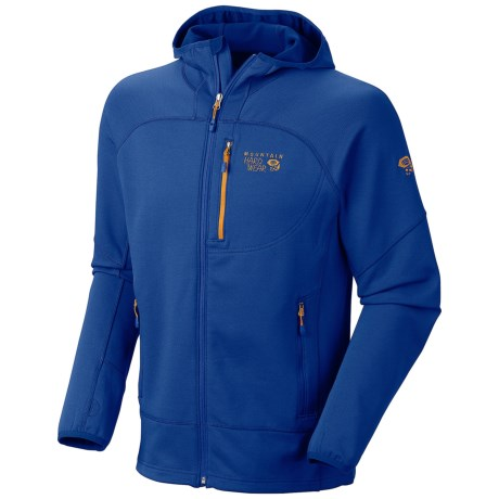 Mountain Hardwear Desna Hooded Jacket - Polartec® Power Stretch® (For Men) in Azul